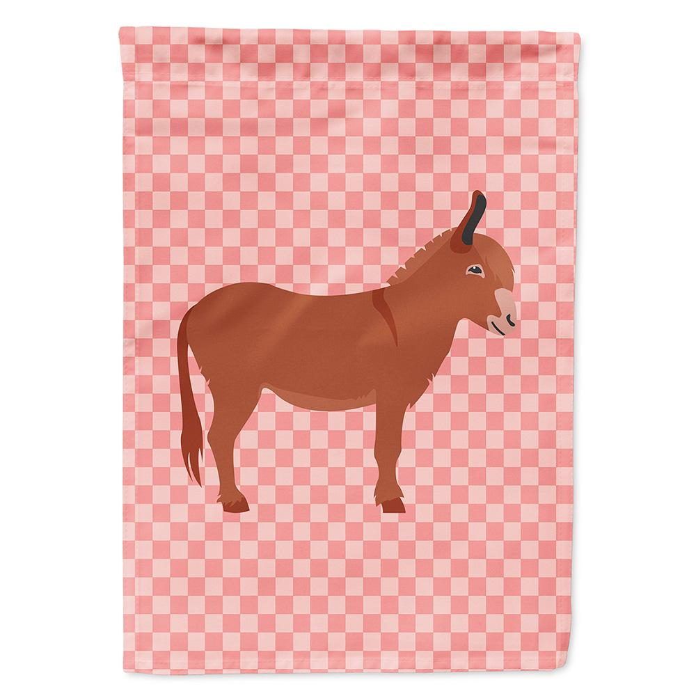 Irish Donkey Pink Check Flag Garden Size by Caroline