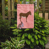Cotentin Donkey Pink Check Flag Garden Size BB7849GF by Caroline's Treasures