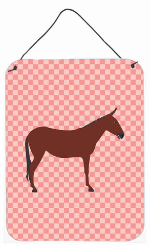 Buy this Hinny Horse Donkey Pink Check Wall or Door Hanging Prints BB7850DS1216