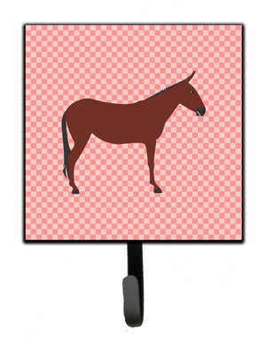 Buy this Hinny Horse Donkey Pink Check Leash or Key Holder