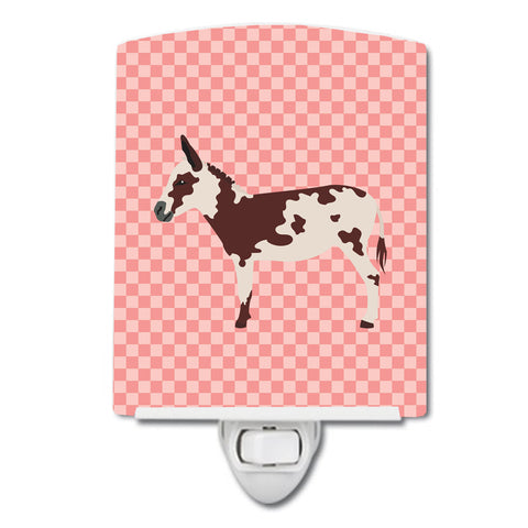 Buy this American Spotted Donkey Pink Check Ceramic Night Light BB7851CNL