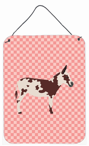 Buy this American Spotted Donkey Pink Check Wall or Door Hanging Prints BB7851DS1216