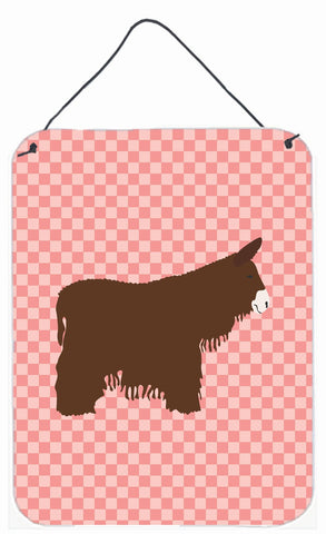Buy this Poitou Poiteuin Donkey Pink Check Wall or Door Hanging Prints BB7852DS1216