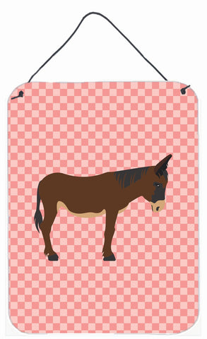 Buy this Zamorano-Leones Donkey Pink Check Wall or Door Hanging Prints BB7853DS1216