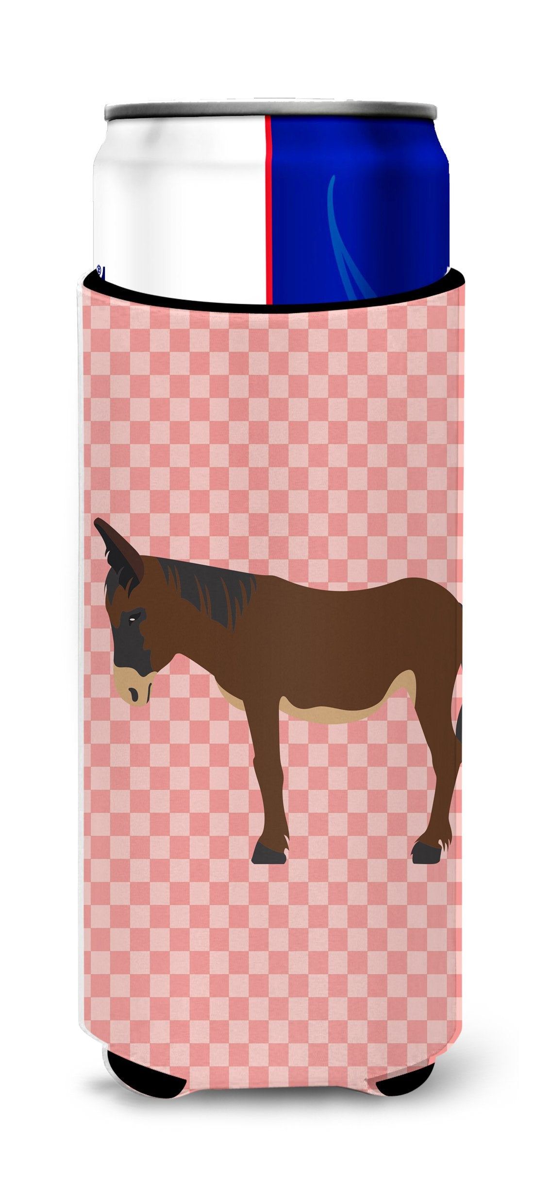 Buy this Zamorano-Leones Donkey Pink Check Michelob Ultra Hugger for slim cans