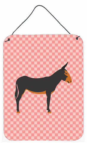 Buy this Catalan Donkey Pink Check Wall or Door Hanging Prints BB7855DS1216