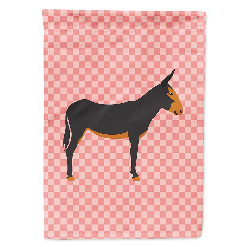 Buy this Catalan Donkey Pink Check Flag Garden Size