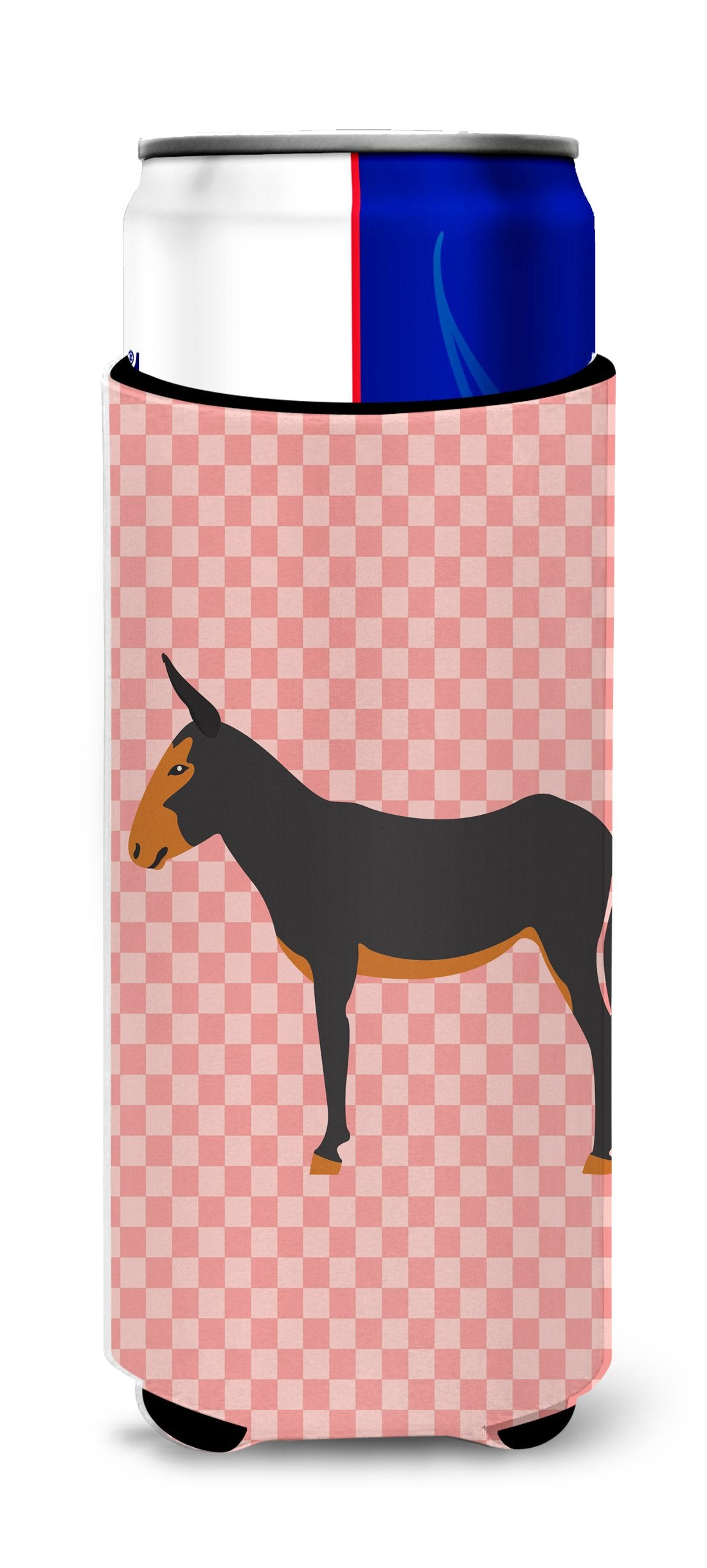 Buy this Catalan Donkey Pink Check Michelob Ultra Hugger for slim cans