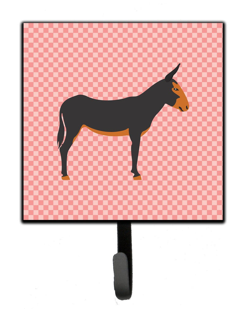 Buy this Catalan Donkey Pink Check Leash or Key Holder