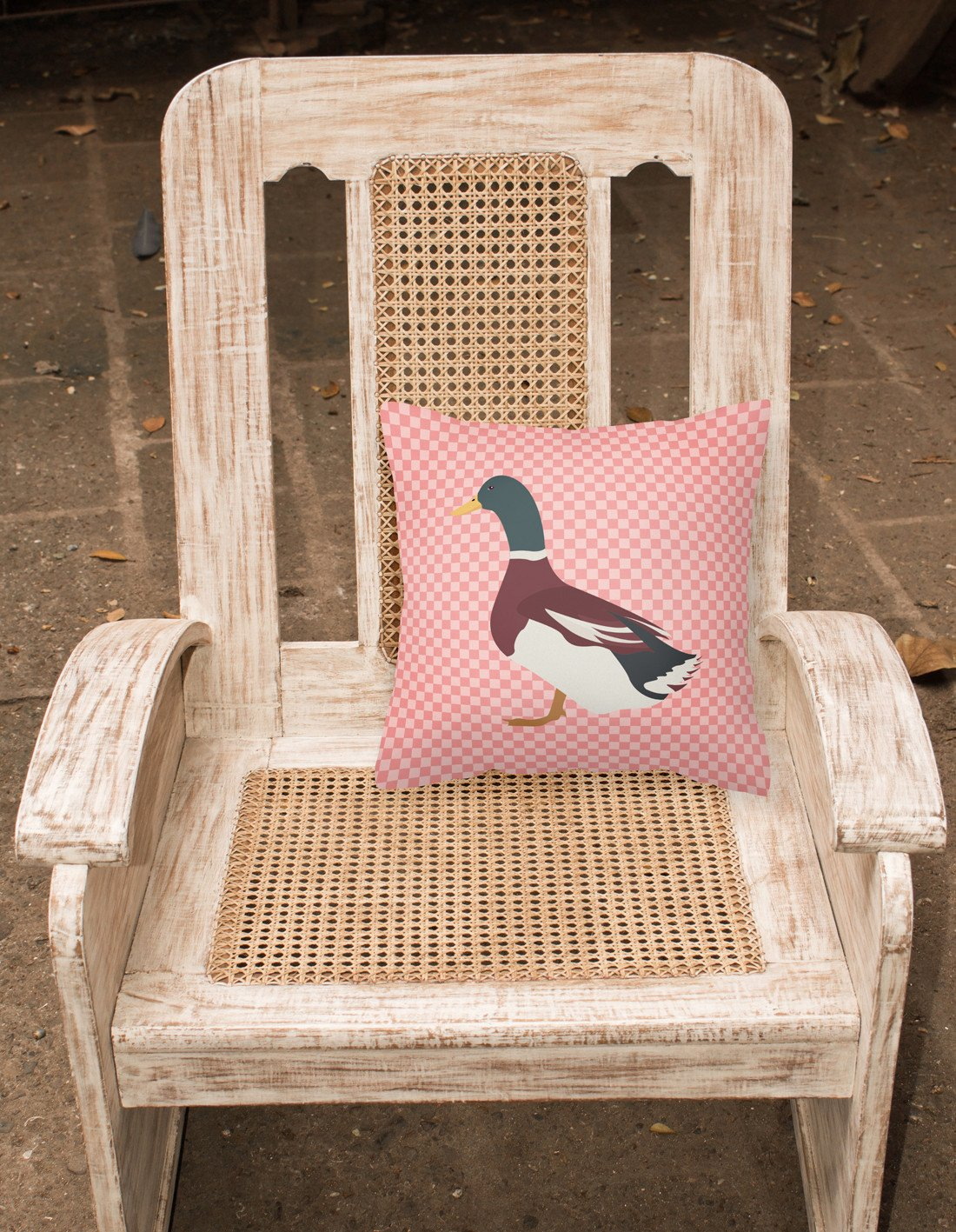 Buy this Rouen Duck Pink Check Fabric Decorative Pillow BB7856PW1818