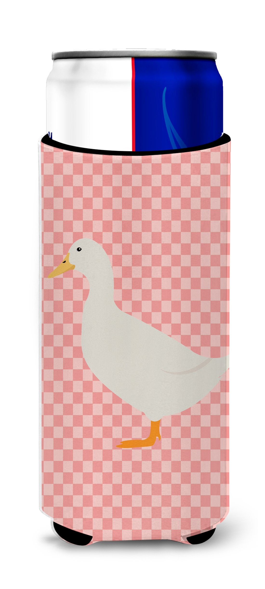 American Pekin Duck Pink Check Michelob Ultra Hugger for slim cans by Caroline's Treasures