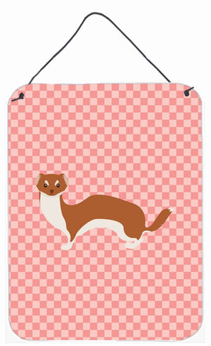 Buy this Weasel Pink Check Wall or Door Hanging Prints BB7870DS1216