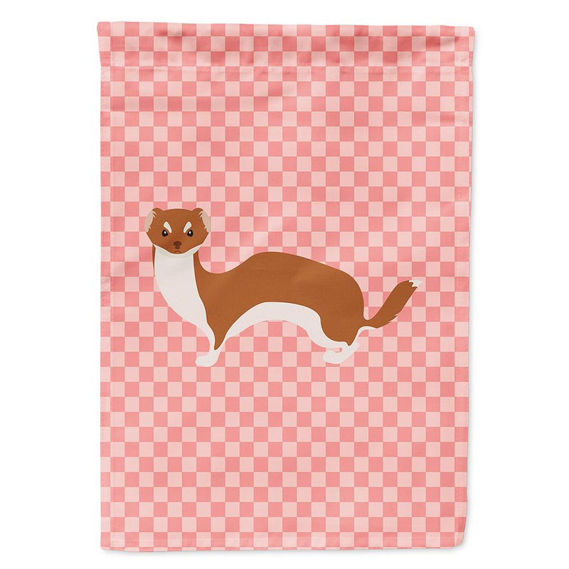 Buy this Weasel Pink Check Flag Garden Size