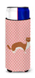 Buy this Weasel Pink Check Michelob Ultra Hugger for slim cans