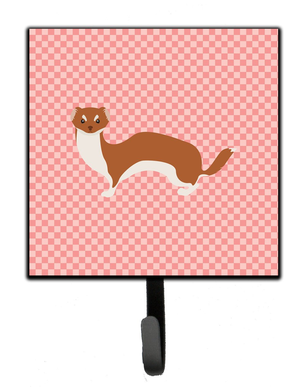 Buy this Weasel Pink Check Leash or Key Holder