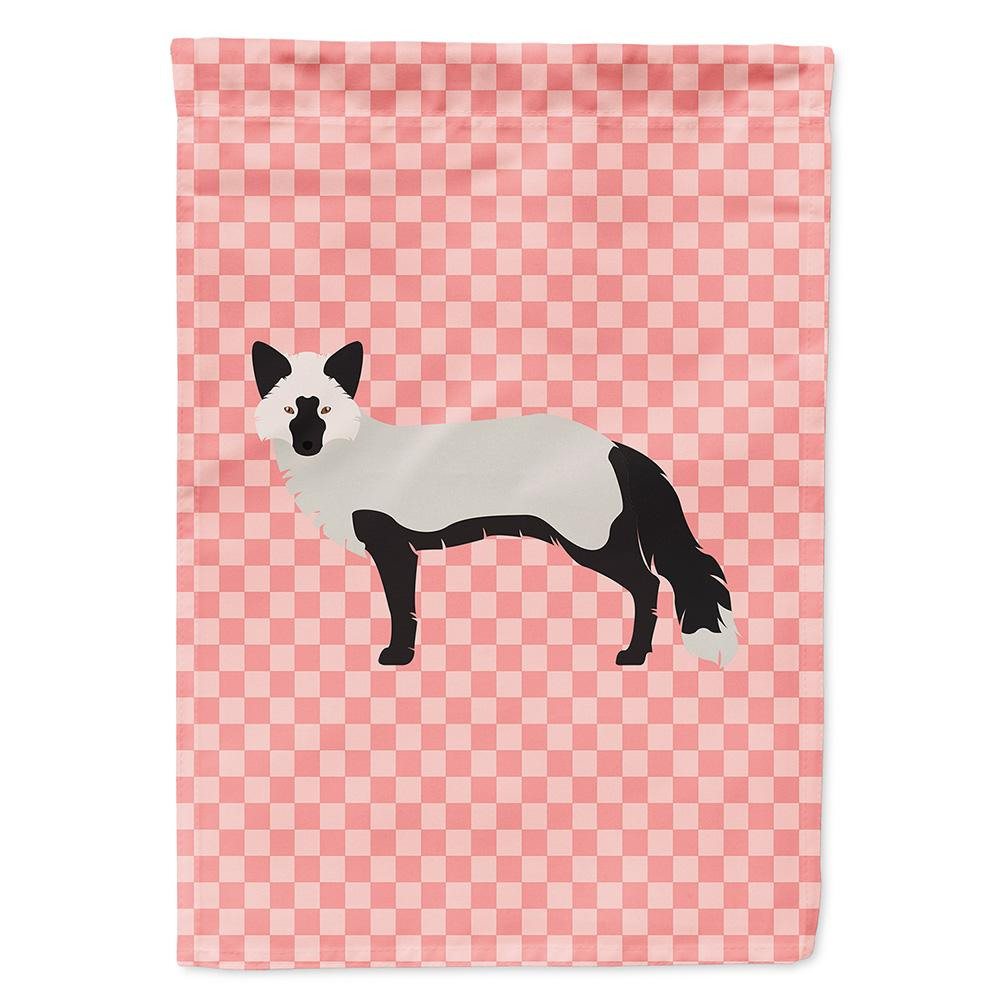 Buy this Silver Fox Pink Check Flag Garden Size