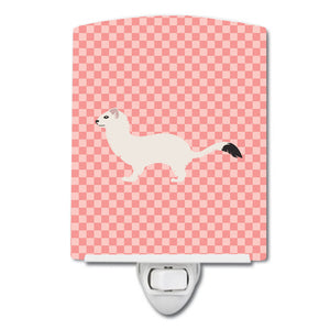 Buy this Stoat Short-tailed Weasel Pink Check Ceramic Night Light BB7872CNL