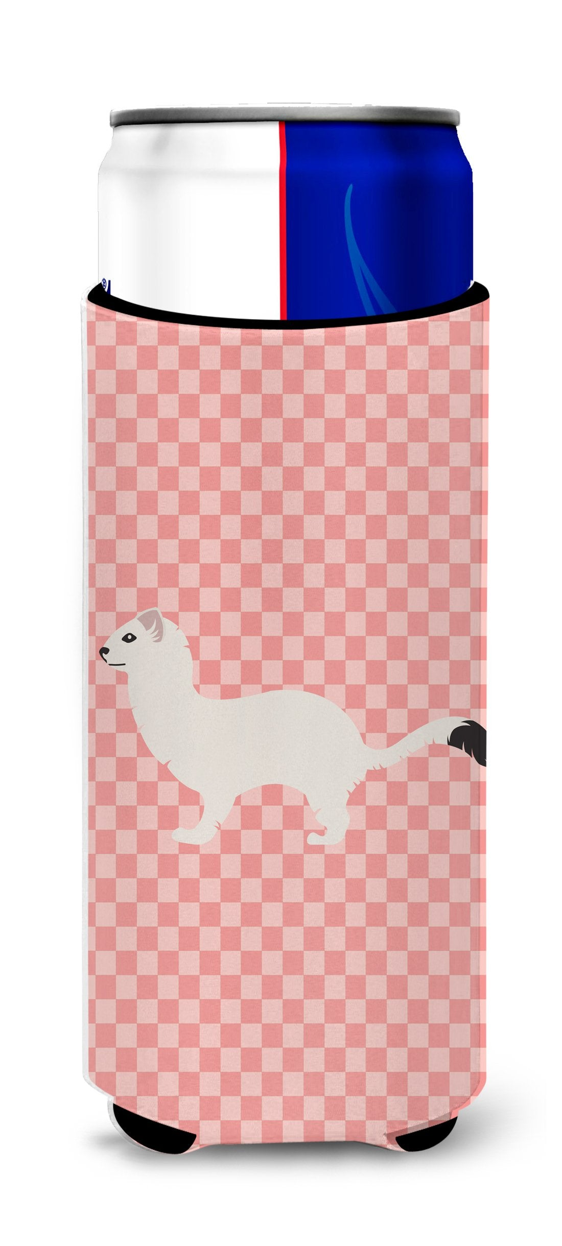 Buy this Stoat Short-tailed Weasel Pink Check Michelob Ultra Hugger for slim cans