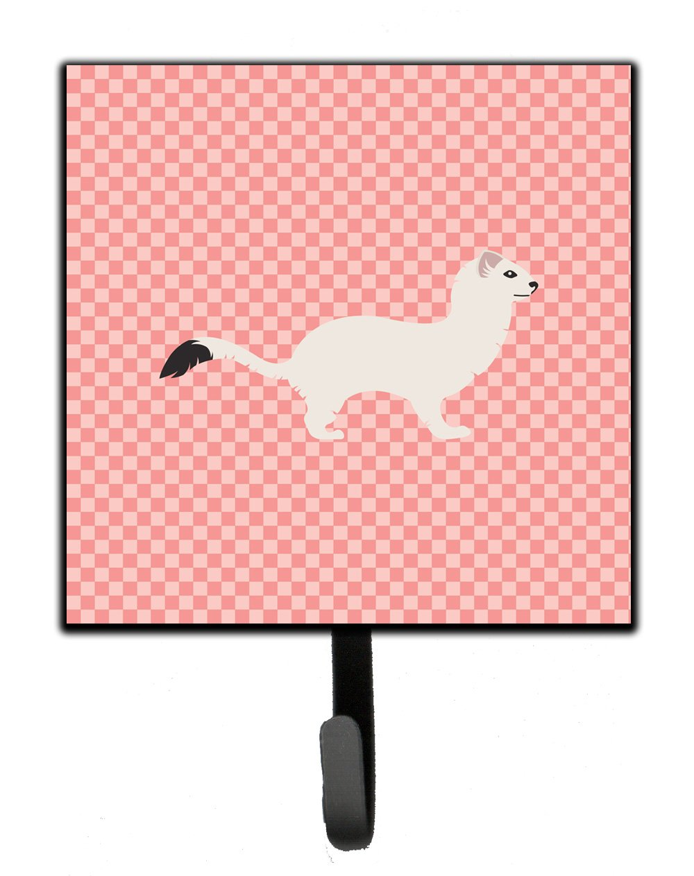 Buy this Stoat Short-tailed Weasel Pink Check Leash or Key Holder
