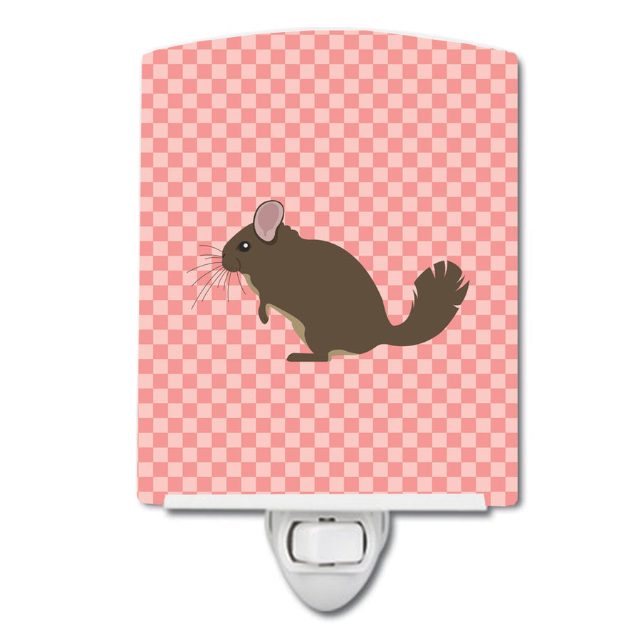 Buy this Chinchilla Pink Check Ceramic Night Light BB7875CNL