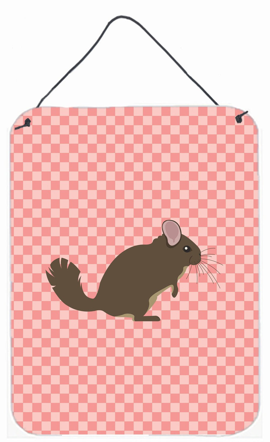 Buy this Chinchilla Pink Check Wall or Door Hanging Prints BB7875DS1216