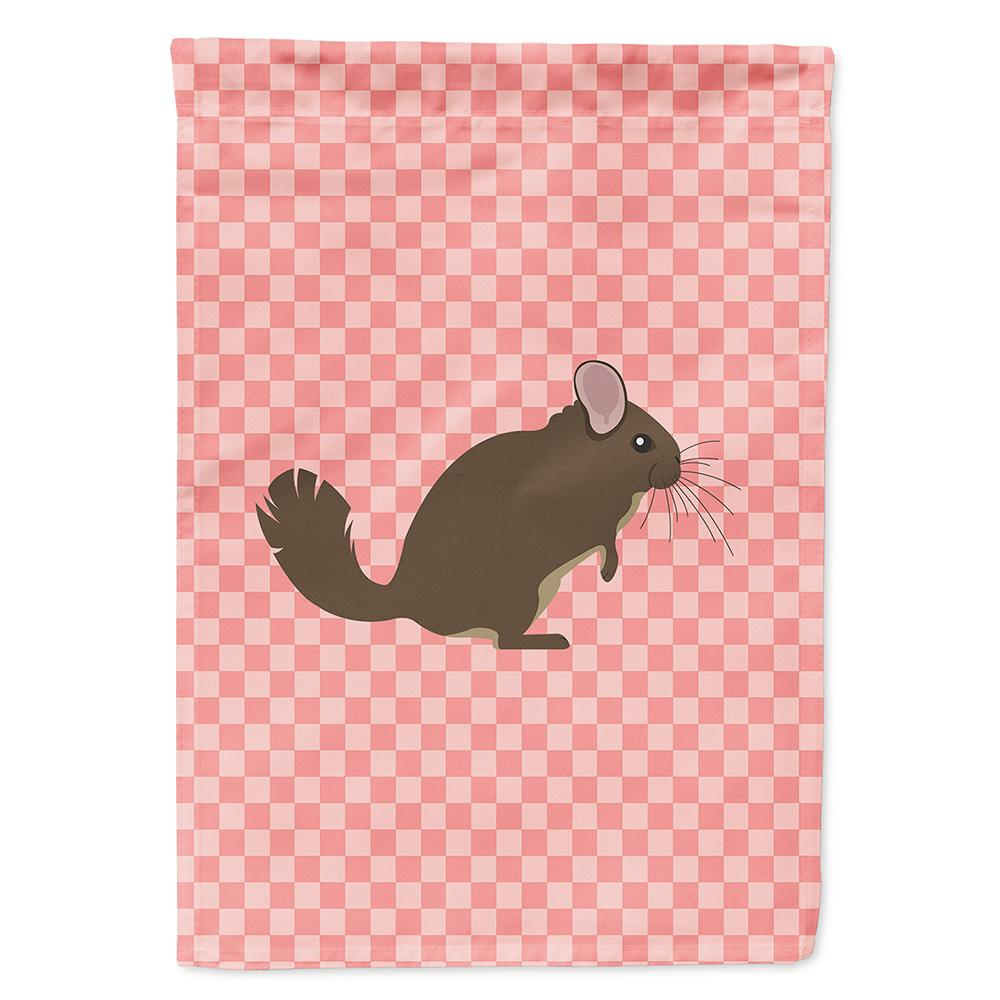 Chinchilla Pink Check Flag Garden Size by Caroline's Treasures