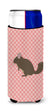 Buy this Chinchilla Pink Check Michelob Ultra Hugger for slim cans