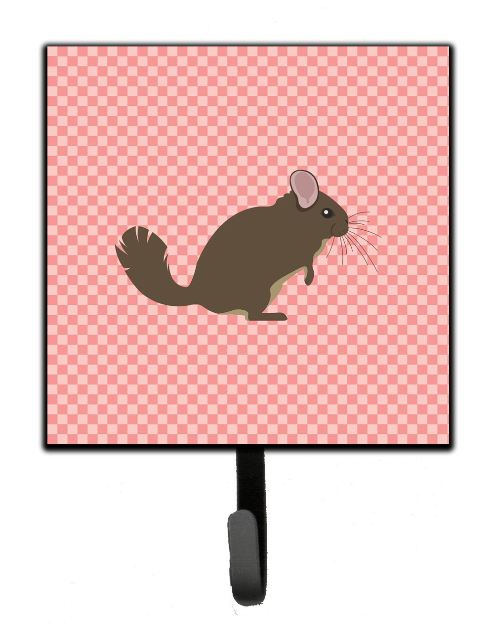 Buy this Chinchilla Pink Check Leash or Key Holder