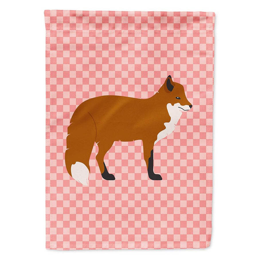 Buy this Red Fox Pink Check Flag Garden Size