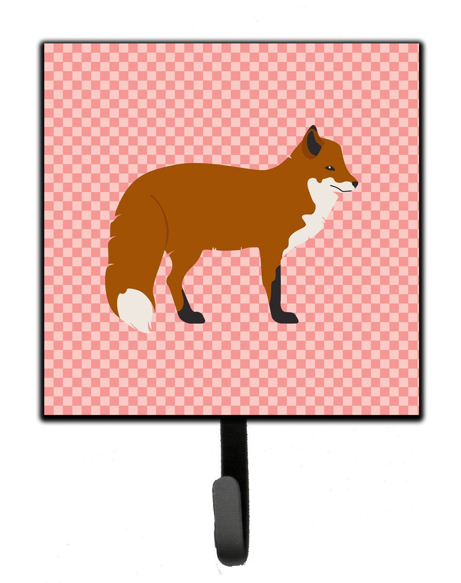 Buy this Red Fox Pink Check Leash or Key Holder