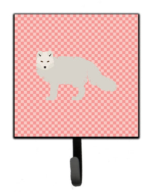 Buy this White Arctic Fox Pink Check Leash or Key Holder