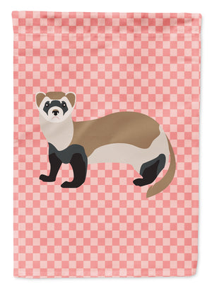 Buy this Ferret Pink Check Flag Garden Size
