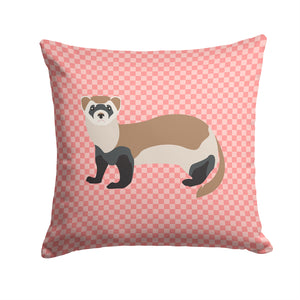 Buy this Ferret Pink Check Fabric Decorative Pillow BB7878PW1414