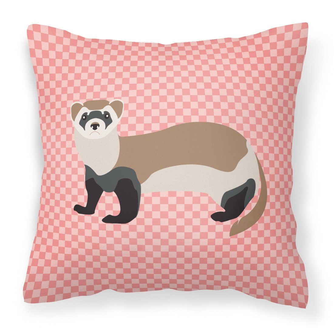 Buy this Ferret Pink Check Fabric Decorative Pillow BB7878PW1818