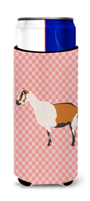 Buy this Alpine Goat Pink Check Michelob Ultra Hugger for slim cans