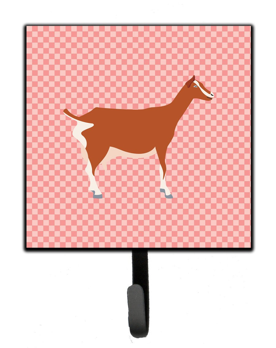 Buy this Toggenburger Goat Pink Check Leash or Key Holder