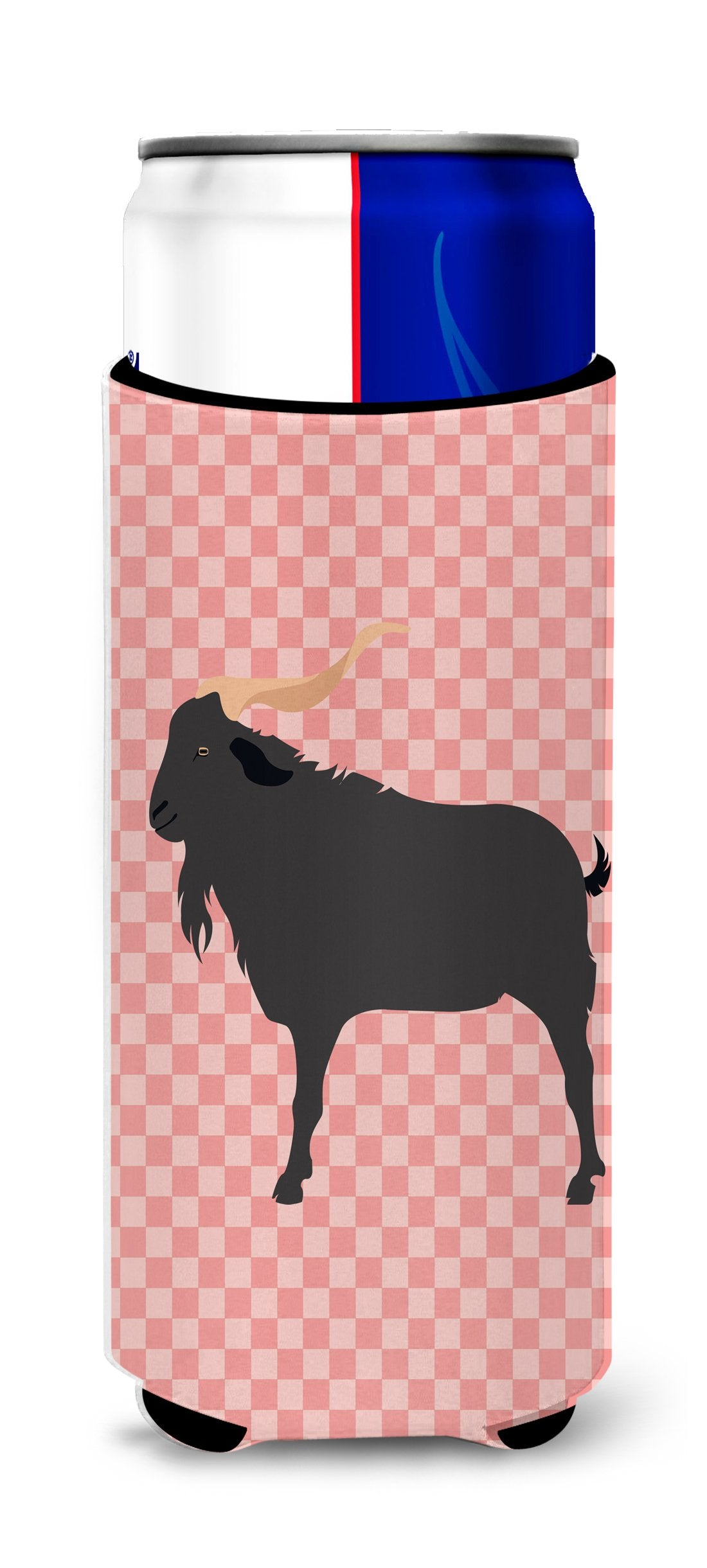 Buy this Verata Goat Pink Check Michelob Ultra Hugger for slim cans
