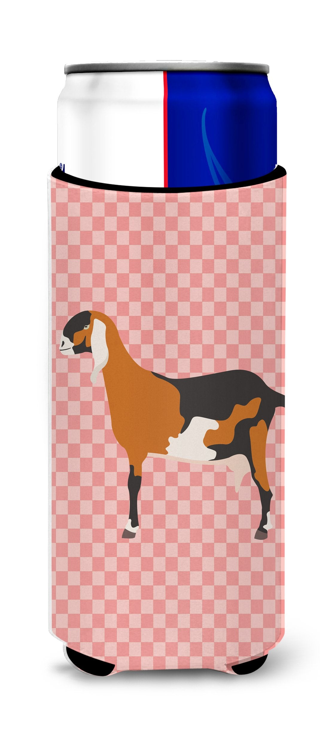 Buy this Anglo-nubian Nubian Goat Pink Check Michelob Ultra Hugger for slim cans
