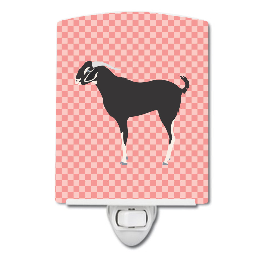 Black Bengal Goat Pink Check Ceramic Night Light BB7884CNL by Caroline's Treasures