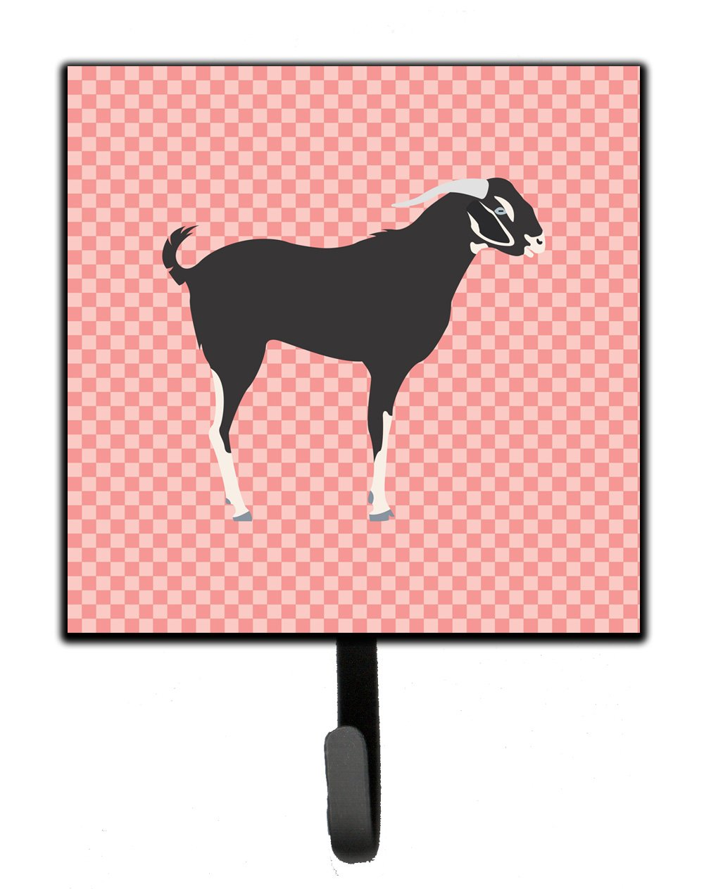 Buy this Black Bengal Goat Pink Check Leash or Key Holder