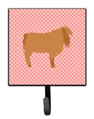 Buy this American Lamancha Goat Pink Check Leash or Key Holder