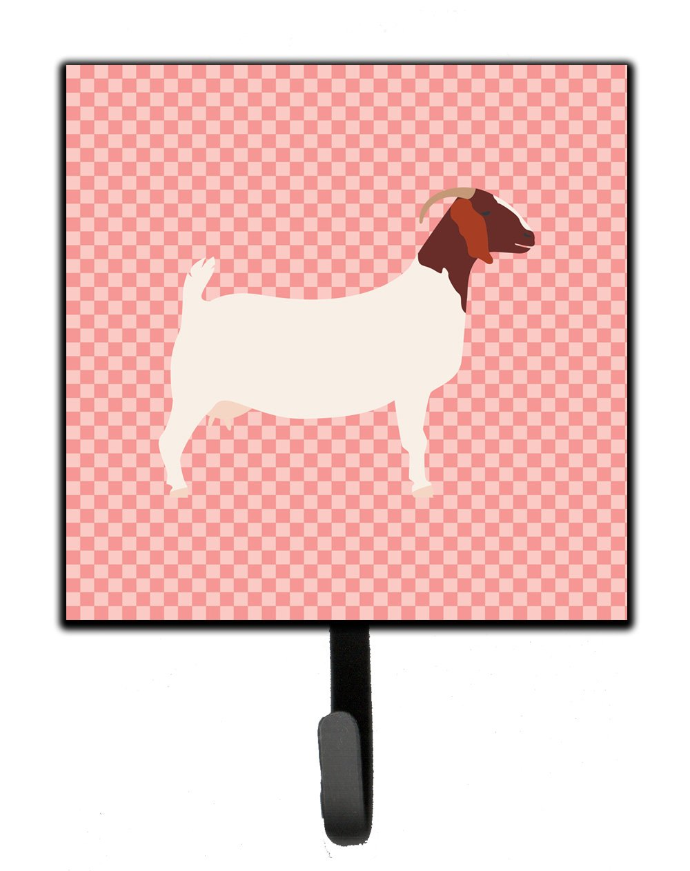 Boer Goat Pink Check Leash or Key Holder by Caroline's Treasures