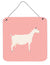 Saanen Goat Pink Check Wall or Door Hanging Prints BB7889DS66 by Caroline's Treasures