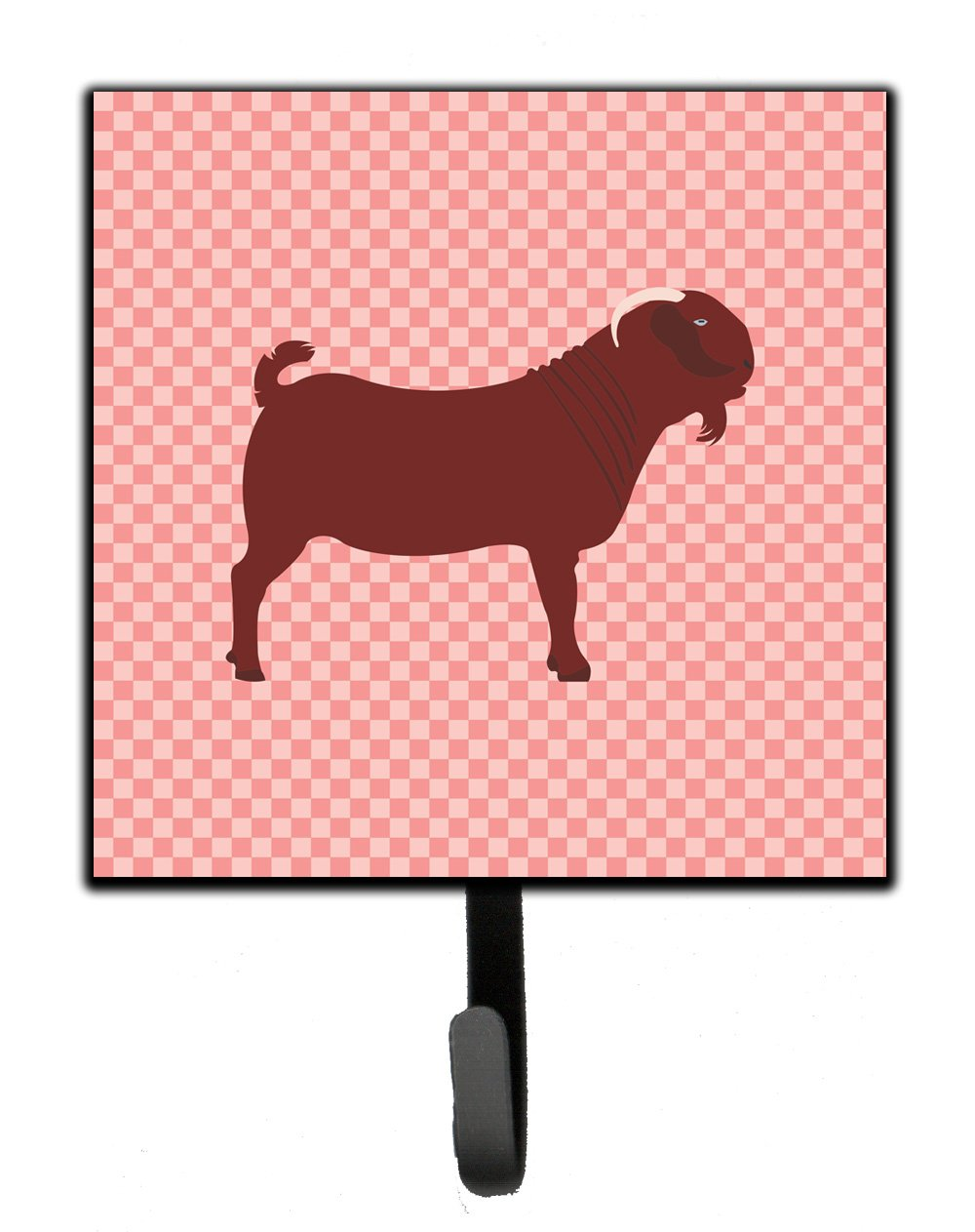 Buy this Kalahari Red Goat Pink Check Leash or Key Holder
