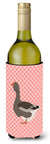 Toulouse Goose Pink Check Wine Bottle Beverge Insulator Hugger BB7897LITERK by Caroline's Treasures