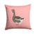 Toulouse Goose Pink Check Fabric Decorative Pillow BB7897PW1414 by Caroline's Treasures