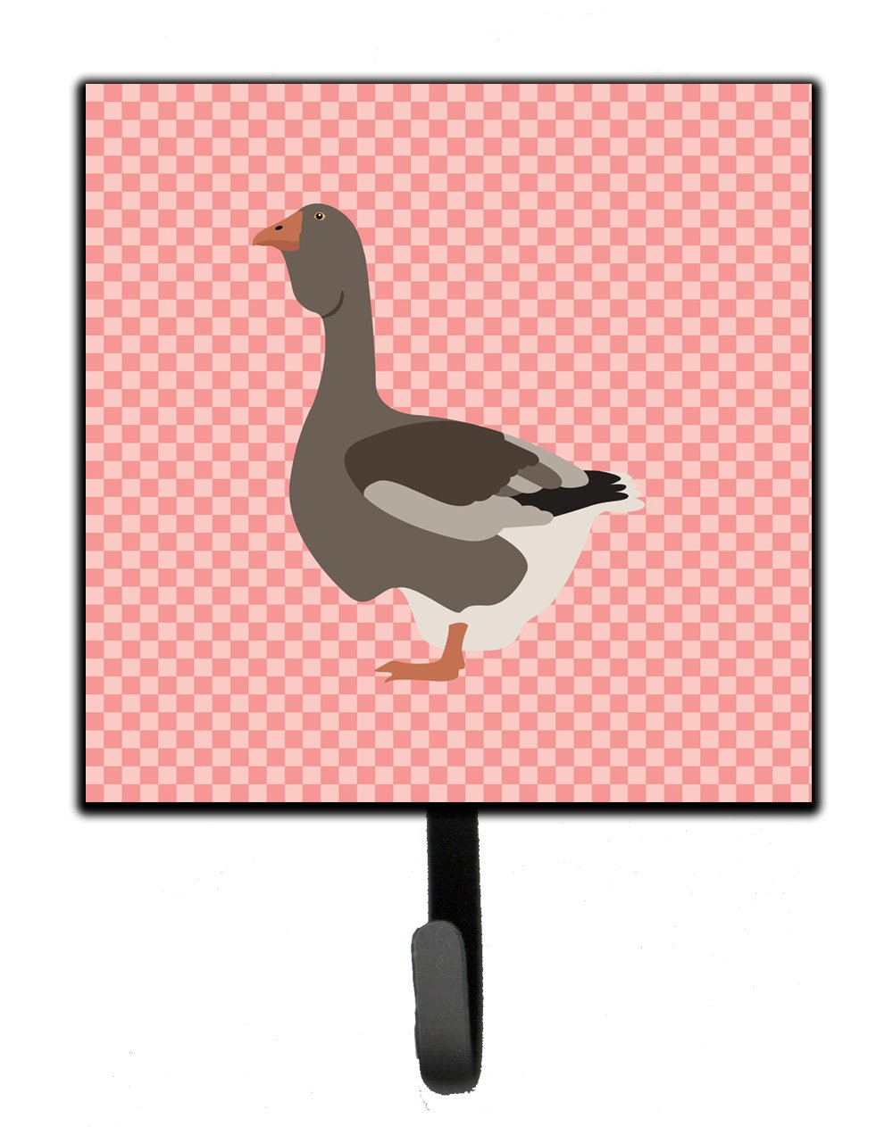 Buy this Toulouse Goose Pink Check Leash or Key Holder
