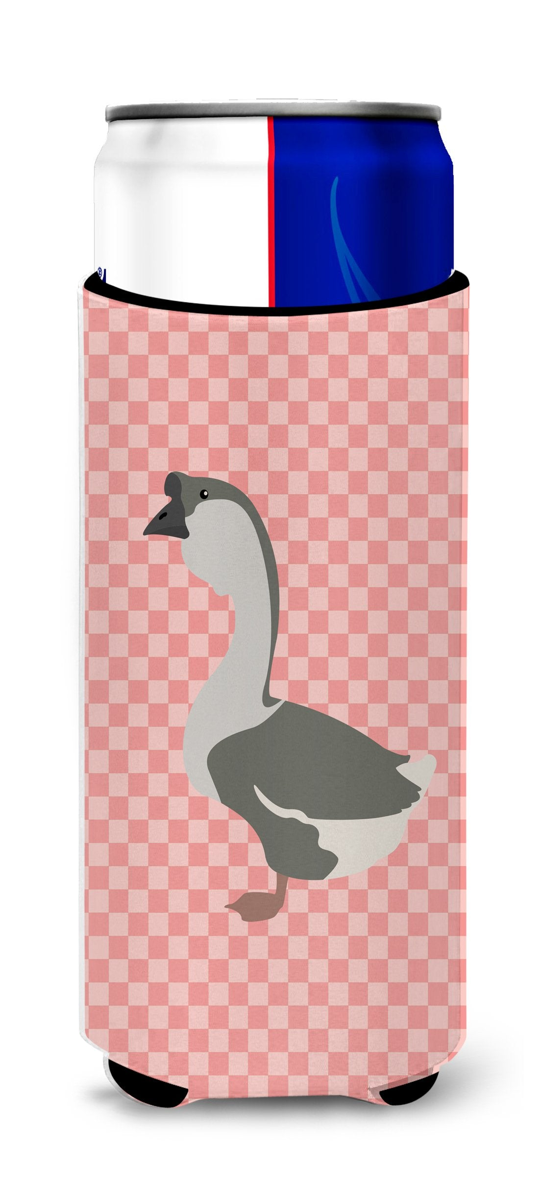 Buy this African Goose Pink Check Michelob Ultra Hugger for slim cans