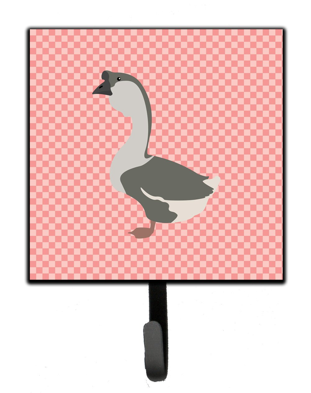 Buy this African Goose Pink Check Leash or Key Holder
