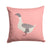 Buff Grey Back Goose Pink Check Fabric Decorative Pillow BB7901PW1414 by Caroline's Treasures